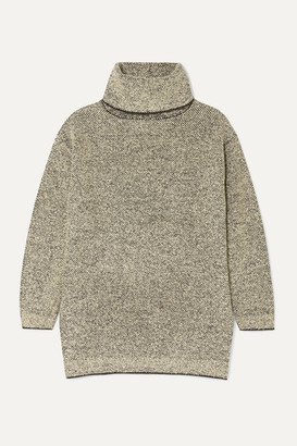 The Row Gene Cashmere And Silk-blend Turtleneck Sweater - Beige