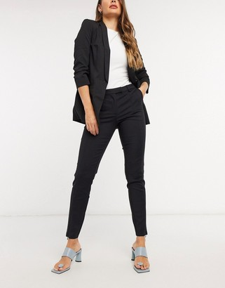 Y.A.S tailored trousers with zip front split in black