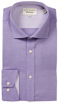Ted Baker Dequan Geometric Trim Fit Dress Shirt