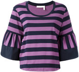 See by Chloe striped knitted top - women - Cotton - 42