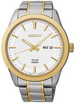 Seiko Sne364p1 Two Tone Stainless Steel Bracelet Strap Watch, Silver/gold