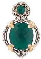 Konstantino Two-Tone Green Onyx Pendant