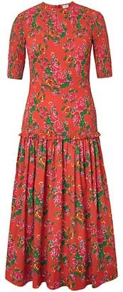 Rhode Resort Zola Floral-Print Cotton Midi Dress