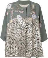 Antonio Marras lace panel jacket - women - Linen/Flax/Polyester/Lyocell - 42
