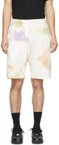 John Elliott White and Multicolor Crimson Shorts