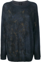 Avant Toi abstract pattern slim-fit jumper