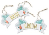 Kate Aspen Tropical Chic Bride and Groom Chair Signs