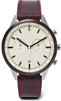 Uniform Wares C41 Chronograph Pvd-coated Stainless Steel And Leather Watch - Burgundy