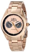 Invicta Women's Speedway Quartz Watch with Rose Gold Dial Analogue Display and Rose Gold Stainless Steel Plated Bracelet 14708