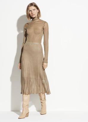 Vince Metallic Pleated Skirt