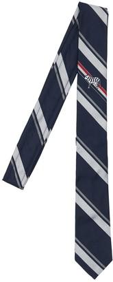 Thom Browne 5cm Tiger Embroidery Silk Tie