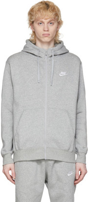 Nike Grey Club Full-Zip Hoodie