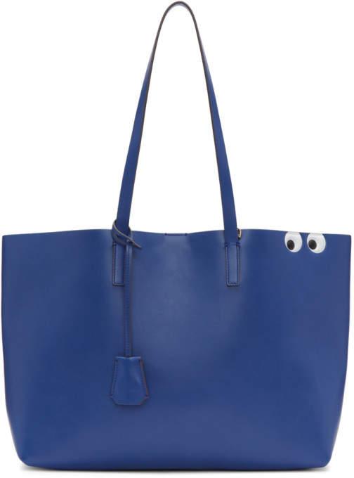 Anya Hindmarch Blue Ebury Shopper Tote
