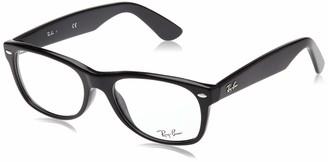 Ray-Ban 0rx5184 No Polarization Square Prescription Eyewear Frame Shiny Black 54 mm