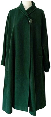Genny Green Wool Coat for Women Vintage