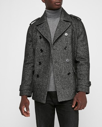 Express Recycled Wool Water-Resistant Peacoat