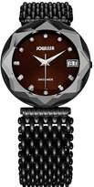 Jowissa Women's J5.192.XL Crystal 3 Black PVD Coated Stainless Steel Mesh Bracelet Maroon Dial Watch