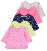 George 5 Pack Long Sleeve Assorted Tops