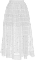 Temperley London White and Black Lizette Organdy Skirt