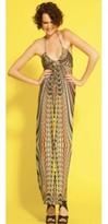 T-Bags Tbags V Neck Halter Top Maxi Dress in Multi as Seen On Khloe Kardashian