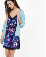 Express lace trim slip dress