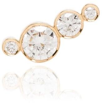 Sophie Bille Brahe 18kt yellow gold Flacon single diamond earring