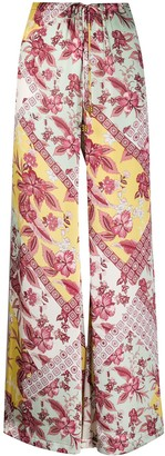 Alexis Floral Satin Palazzo Pants
