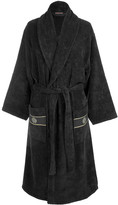 Roberto Cavalli Gold Shawl Bathrobe - Black - L/XL