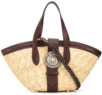 Kate Cate P3 straw tote bag