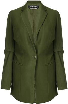 Jacquemus gathered details blazer