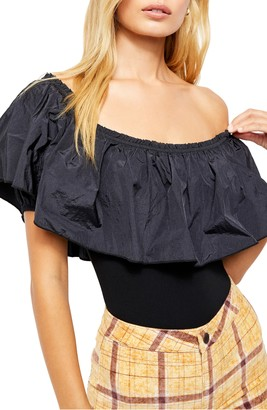 Free People Poof Goes My Heart Off the Shoulder Bodysuit