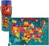 Crocodile Creek USA Map 200 piece Jigsaw Puzzle and Matching Poster