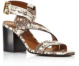 Chloé Women's Candice Embossed Chunky-Heel Sandals - 100% Exclusive
