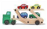 Melissa & Doug Wooden Car Carrier Set