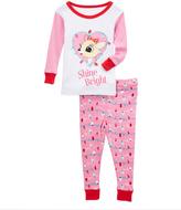 Rashti & Rashti Pink Rudolph 'Shine Bright' Pajama Set - Infant Toddler & Girls