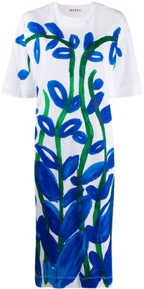 Marni Floral print T-shirt dress