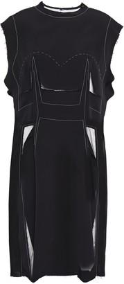 Maison Margiela Cutout Frayed Stretch-crepe Dress