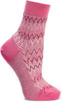Missoni Metallic Crochet-knit Cotton-blend Socks - Pink