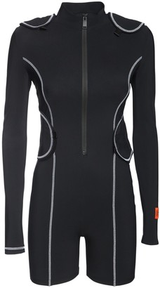 Heron Preston Active Stretch Jersey Romper W/backpack