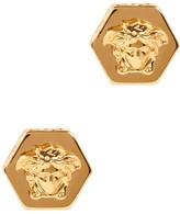 Versace Gold Tone Medusa Earrings