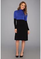 Karen Kane Colorblock Turtleneck Dress (BLRY) - Apparel