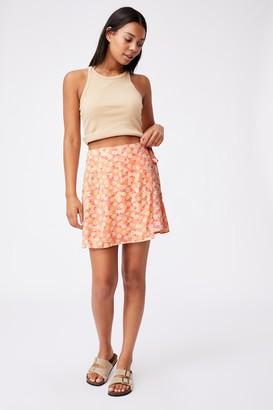 Cotton On Drew Wrap Mini Skirt