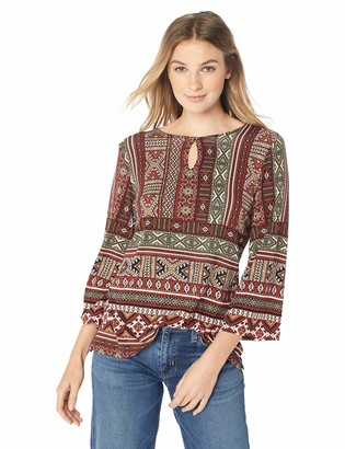 Ruby Rd. Women's Printed 3/4 Sleeve Knit Tunic Top