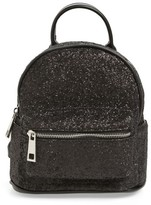Street Level Glitter Zip Backpack - Black