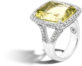 John Hardy Magic Cut Ring with Green Amethyst and Diamonds