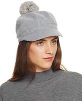 August Accessories Melton Modboy Hat with Asiatic Raccoon Fur Pom-Pom