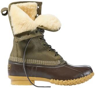 "L.L. Bean Signature Tumbled-Leather L.L.Bean Boots, 10"" Shearling-Lined"