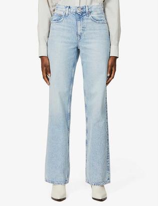 TRAVE Joan high-rise wide leg denim jeans
