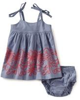 Tea Collection Amata Embroidered Sleeveless Dress (Baby Girls)