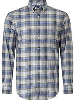 Gant Heather Broadcloth Regular Fit Plaid Shirt, Nautical Blue